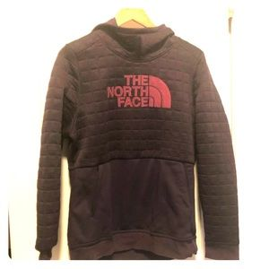 Purple North Face hoodie size large